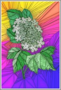 STAINED GLASS FLOWER A51