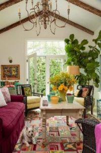 Colorful cozy living room