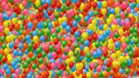 Sea of Colorful Balloons