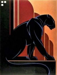 Art Deco Black Panther