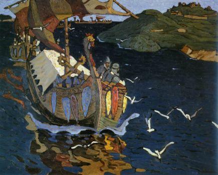 Заморские гости by Nicholas Roerich