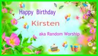 Happy Brthday dear Kirsten :)