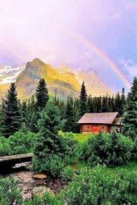 Rainbow Over the Cabin....