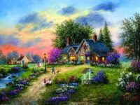Stoney Brook Cottage by Dennis Lewan