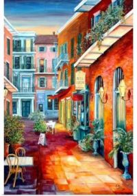 French Quarter Alleyway by Diane Milsap