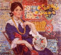 Portrait de Mlle Edith King -1913 Maurice Brazil Prendergast