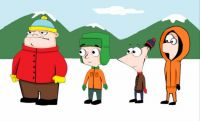 phineas_and_ferb_in_south_park_by_crazykamaboko-d41q6j3
