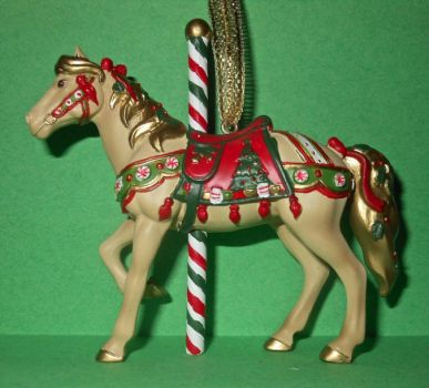 Painted Pony ornament 24a - Christmas Carousel