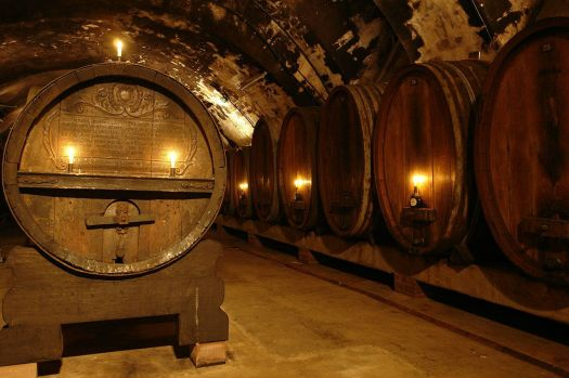 300 year old wine cellar in Warzburg, Germany