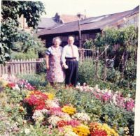 My Grandparents in their wonderful garden