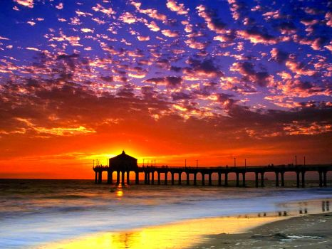 MANHATTAN BEACH - CALIFORNIA - SUNSET