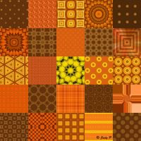 Brown, Orange and Yellow (XL)