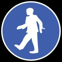 CA 845 - Person walking sign or is it a zombie warning? Lol