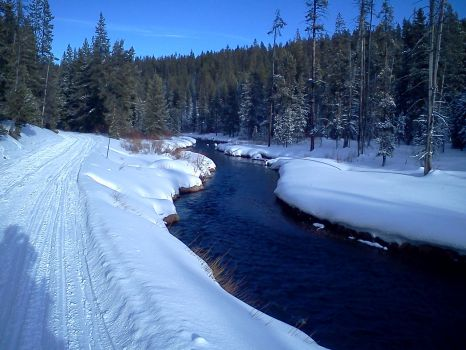 West Yellowstone Winter River