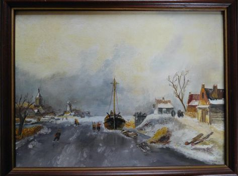 winter painting made many years ago