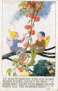 Elves Painting the Berries