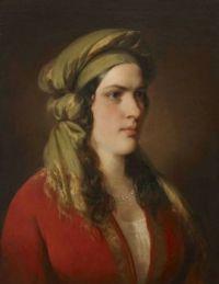 Portrait Rosa Dirsch  Friedrich von Amerling (1803 – 1887)