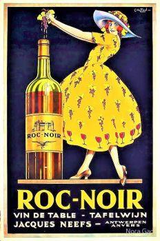 Themes Vintage ads - Roc-Noir Wine