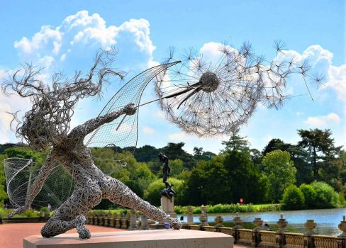 Fairy & Dandelion, sculpture by Robin Wight