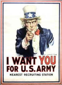 Uncle Sam Wants You  World War I   by James Montgomery Flag  1917