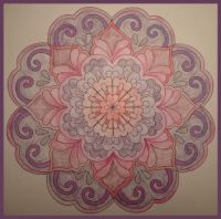 Pink mandala, medium