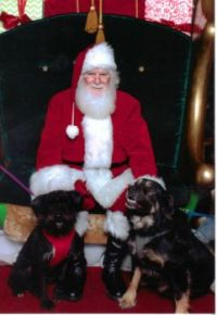 Terra & Tygrr with Santa