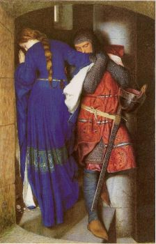 The Meeting on the Turret Stairs - Frederick William Burton