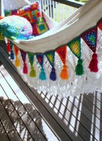 Colorful Front Porch Hammock ~ So Colorful, So Comfortable