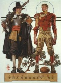 Joseph Christian Leyendecker, Thanksgiving Cover of The Saturday Evening Post.
