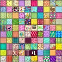 100 Colorful And Cheery Squares