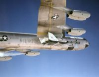 NASA B-52 carrying X-38 research aircraft