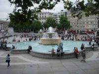 2013-09-22 fountain at Trafalgar Square
