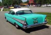 '57 Chevrolet Bel Air - Tropical Turquoise & India Ivory