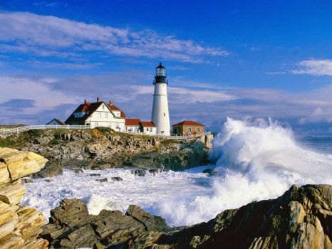 Maine Lighthouses: Portland Head, Cape Elizabeth