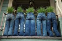 Recycled Jeans Planters diy