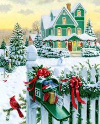 Christmas Mailbox - Art by Ruth Sanderson