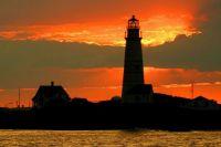 Boston Light at Sunset