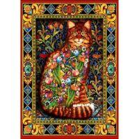 bluebird tapestry cat