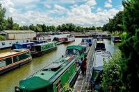 Canal boats for sale at Whilton Marina near Daventry.