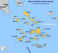 Map of Cyclades Islands - Greece