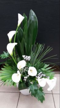 Happiness is....Beautiful Cala Lily Floral Display.