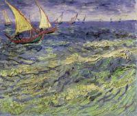 Vincent van Gogh-Seascape at Saintes-Maries - 1888