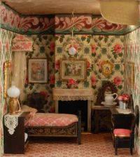 A Sweet Doll House Bedroom