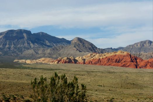 A Look Across The Valley At Red Rock Canyon