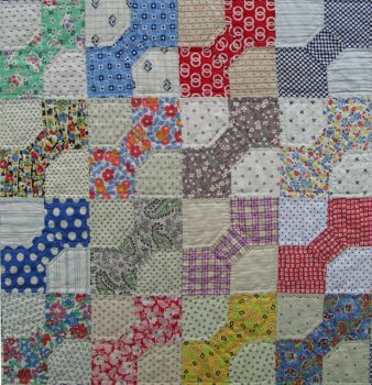 Detail of Vintage Bow Tie Quilt