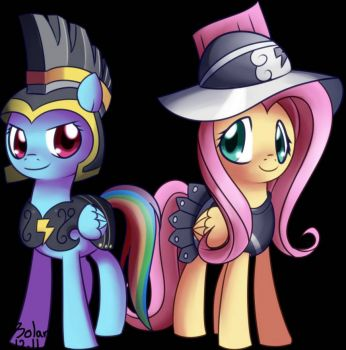 MLP: Commander Hurricane and Fluttersoldier by solar-slash