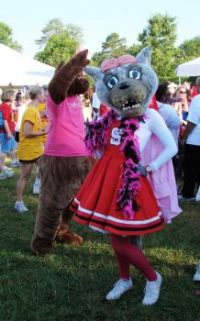 Ms Wuf at The Race for the Cure