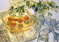Yellow bowl with tangerines