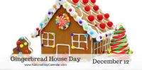 Today Is Gingerbread House Day!!