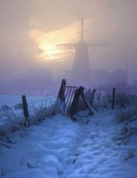 A Dutch Winter - Windmill